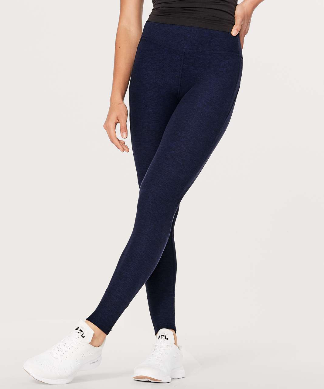 38d73b1d5 Lululemon Rush Hour Tight - Heathered Hero Blue   Black - lulu fanatics