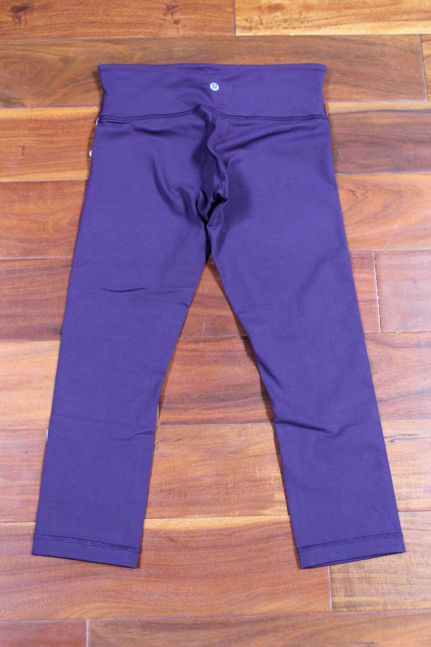 Lululemon Wunder Under Crop III - Deep Zinfandel