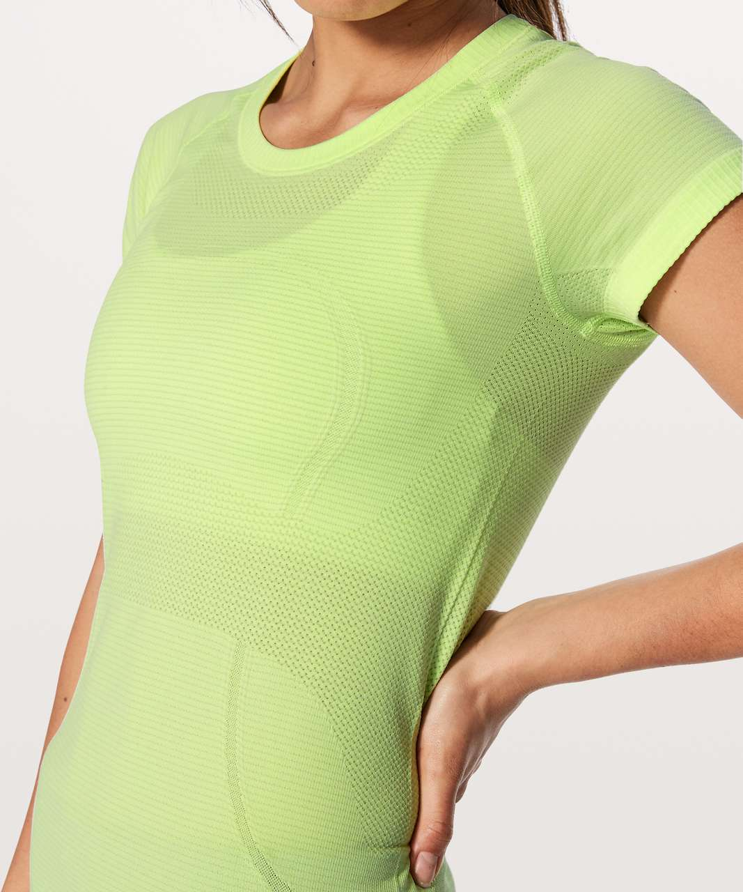 Lululemon Swiftly Tech Short Sleeve Crew - Clear Mint / White