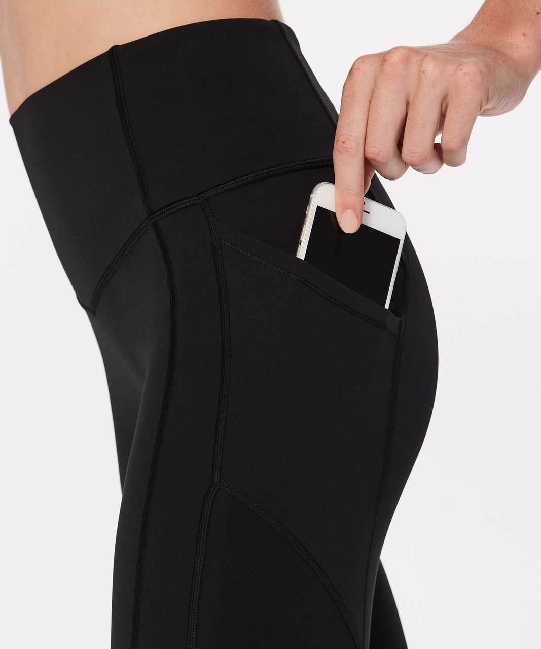"""Lululemon All The Right Places Crop II *23"""" - Black"""