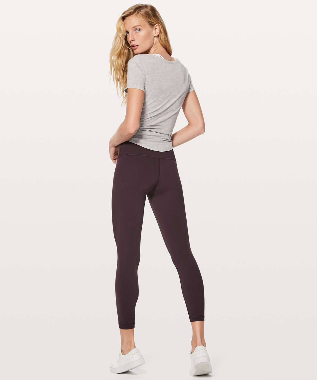 "Lululemon Wunder Under Hi-Rise 7/8 Tight Full-On Luon 25"" - Vintage Grape"