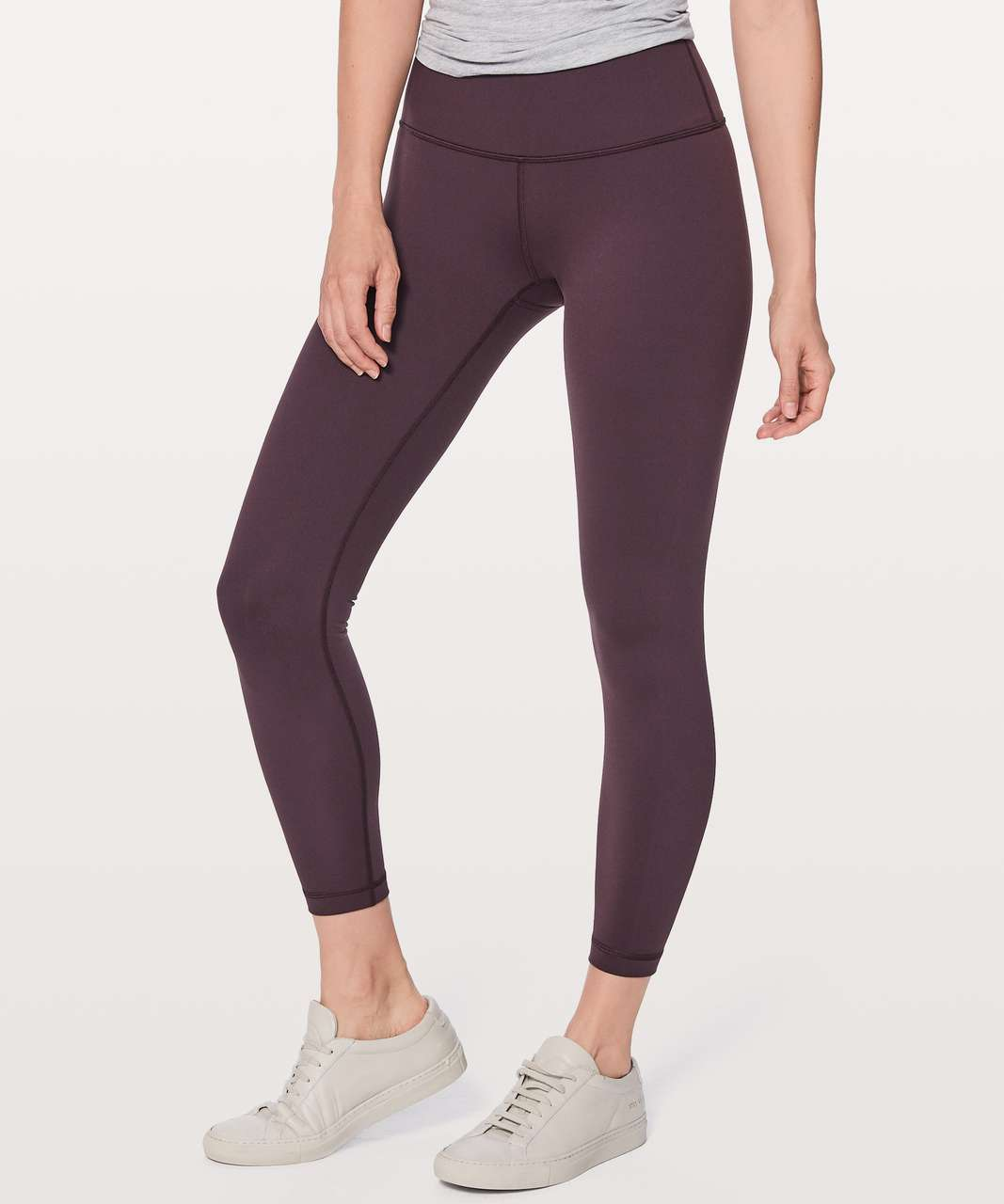 "Lululemon Wunder Under Hi-Rise 7/8 Tight Full-On Luon 25"" - Black Cherry"