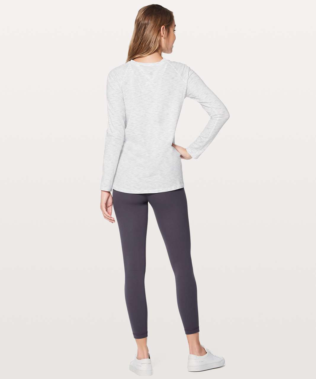 Lululemon Emerald Long Sleeve - 3 Colour Space Dye Ice Grey Alpine White (First Release)