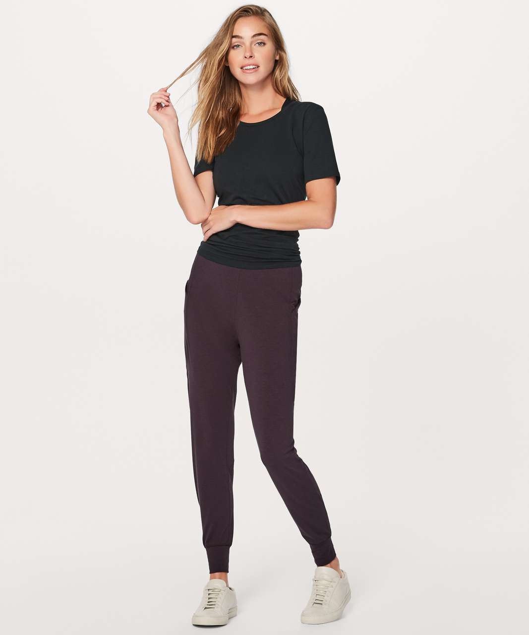 """Lululemon Meant To Move Pant 27"""" - Black Cherry"""