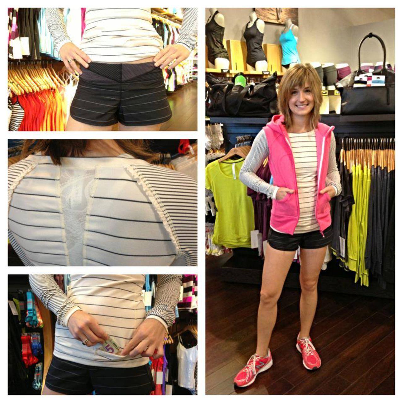 Lululemon Run:  Speed Short - Slalom Stripe Black / Quilt 23 Fall 2013 / Hyper Stripe Black
