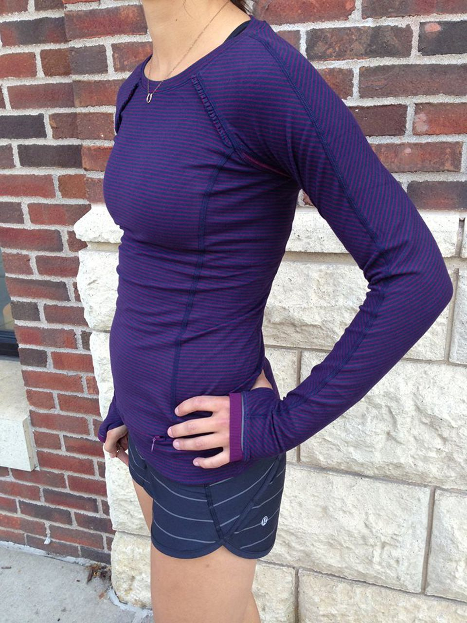 Lululemon Run:  Speed Short - Slalom Stripe Black / Quilt 23 Fall 2013 / Hyper Stripe Black