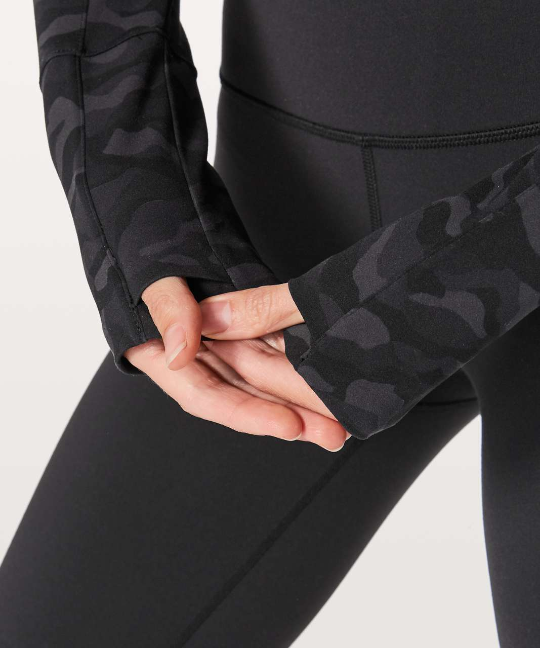 Lululemon Full Freedom Jacket - Sequoia Camo Print Deep Coal Black