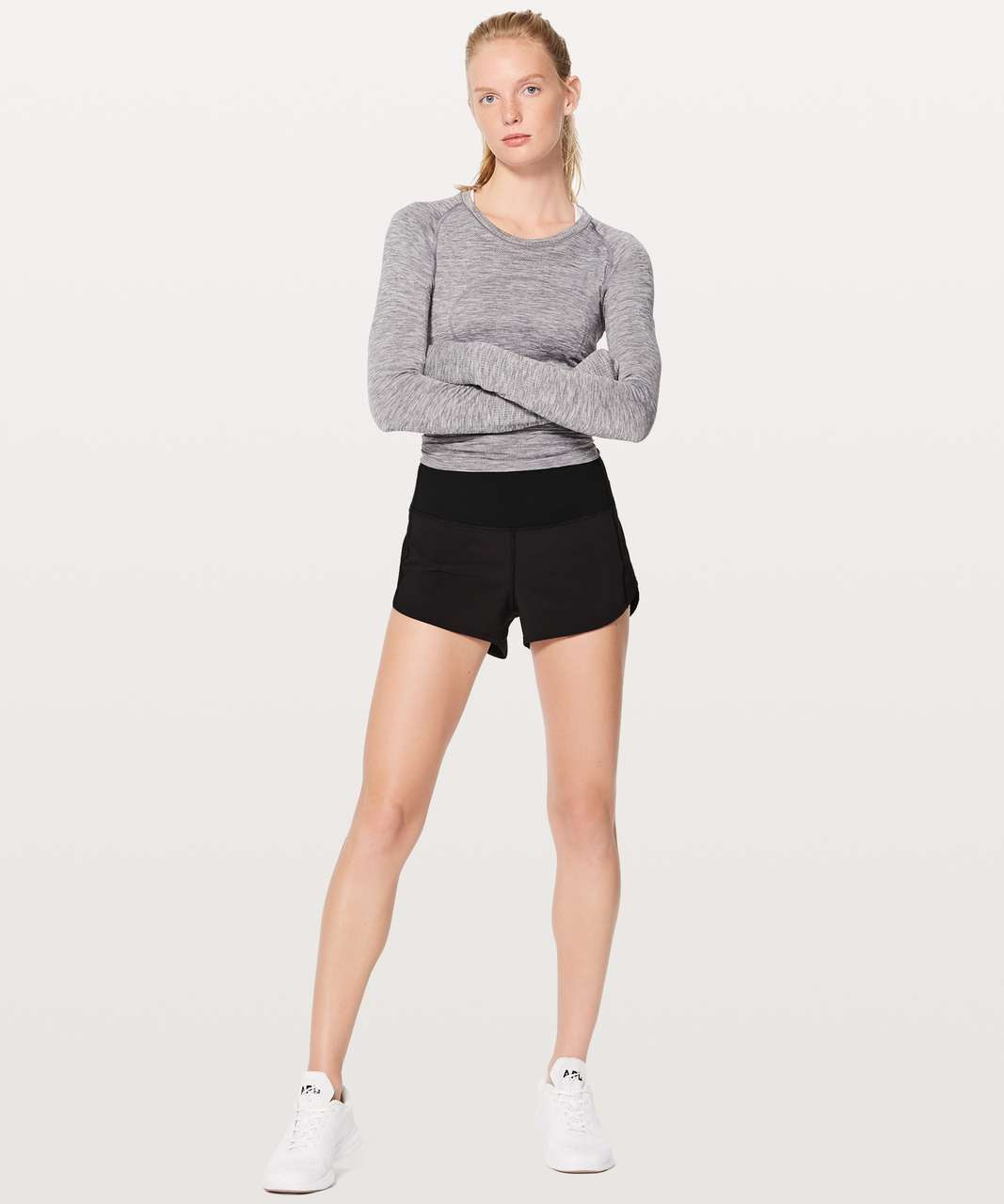 "Lululemon Speed Up Short Hi-Rise 2.5"" - Black"