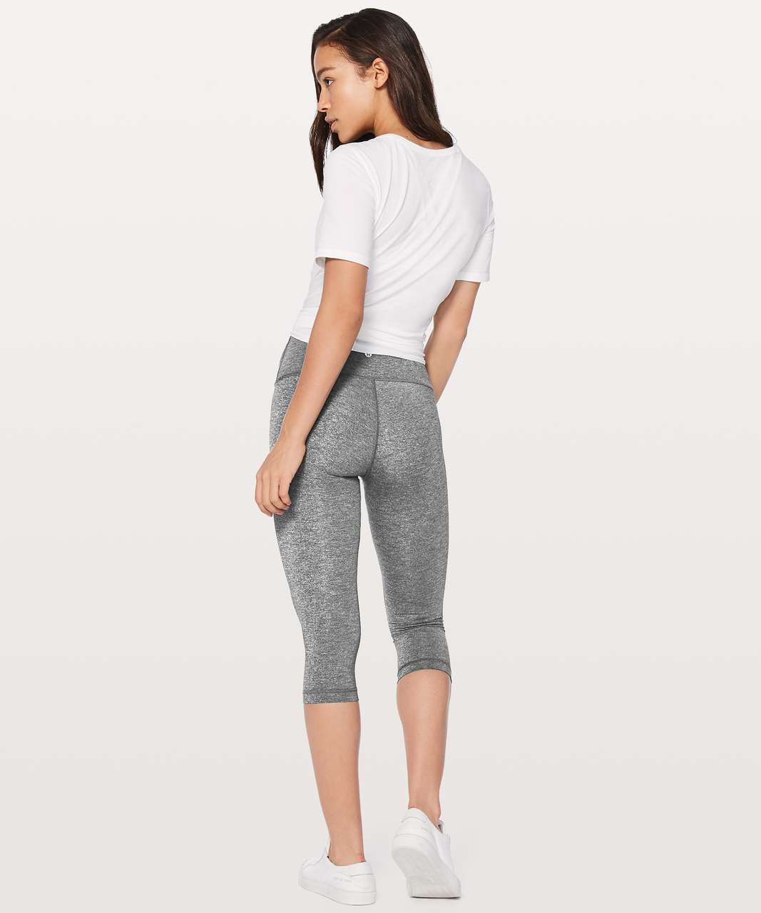 "Lululemon Wunder Under Hi-Rise 1/2 Tight *Luxtreme 17"" - Heathered Black"