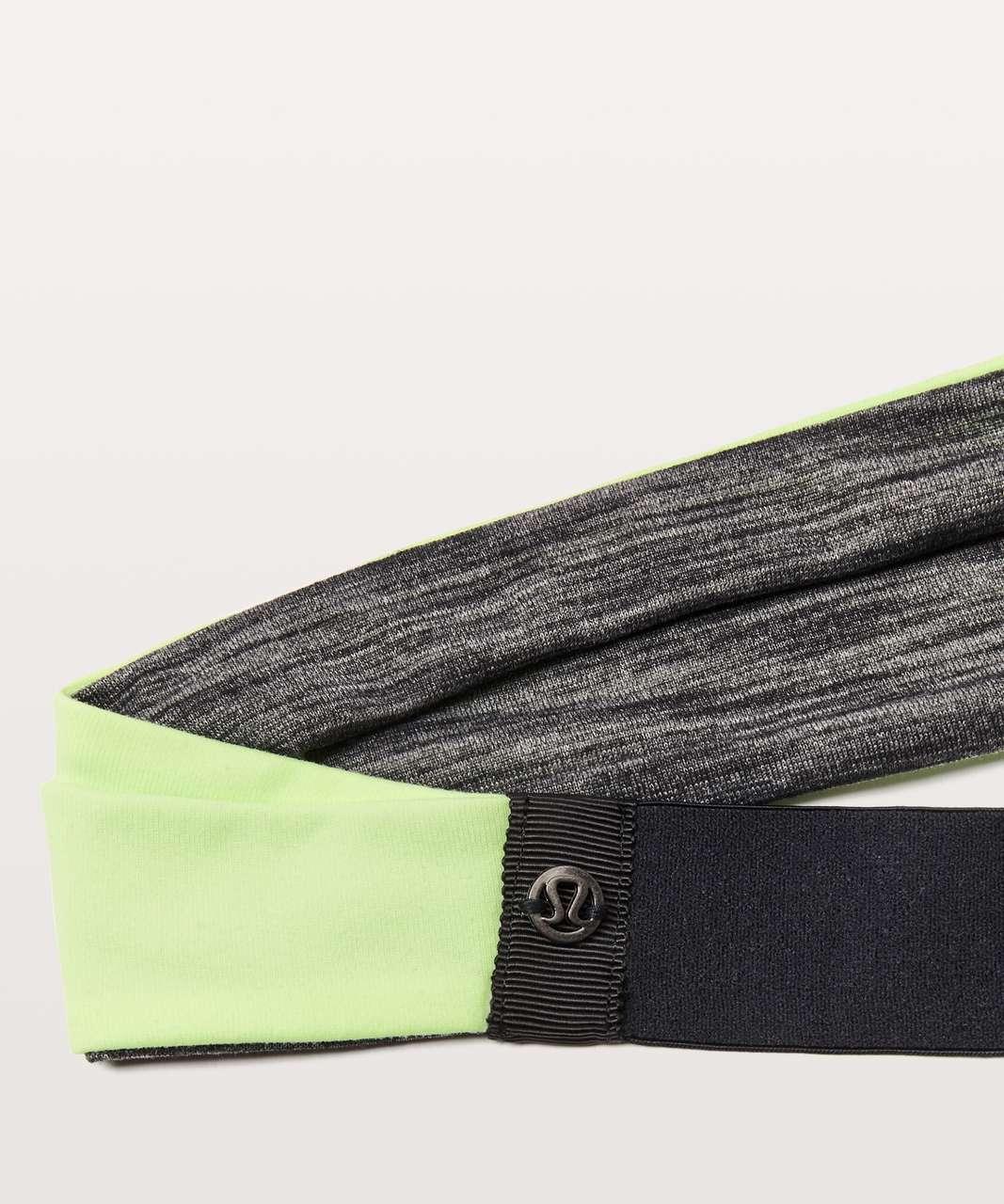 Lululemon Fringe Fighter Headband - Heathered Black / Clear Mint