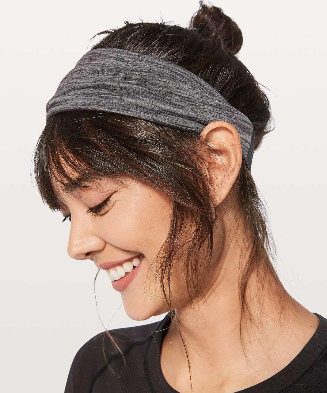 Lululemon Fringe Fighter Headband - Heathered Black / Black