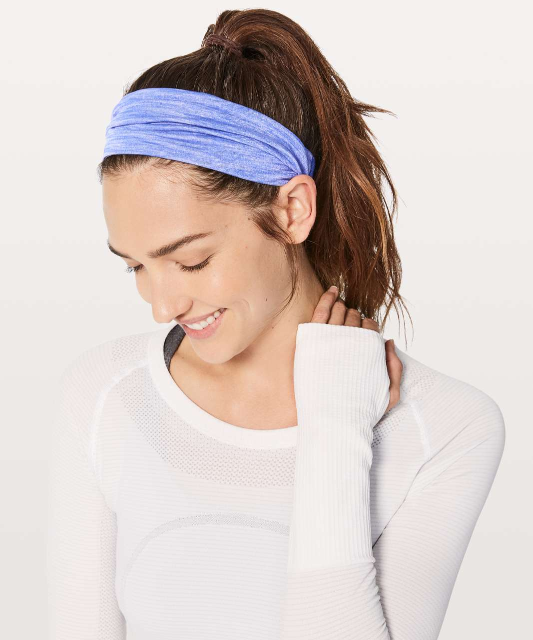 Lululemon Fringe Fighter Headband - Heathered Blazer Blue / Blazer Blue