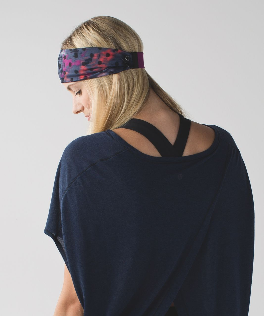 Lululemon Fringe Fighter Headband - Windy Blooms Regal Plum Multi
