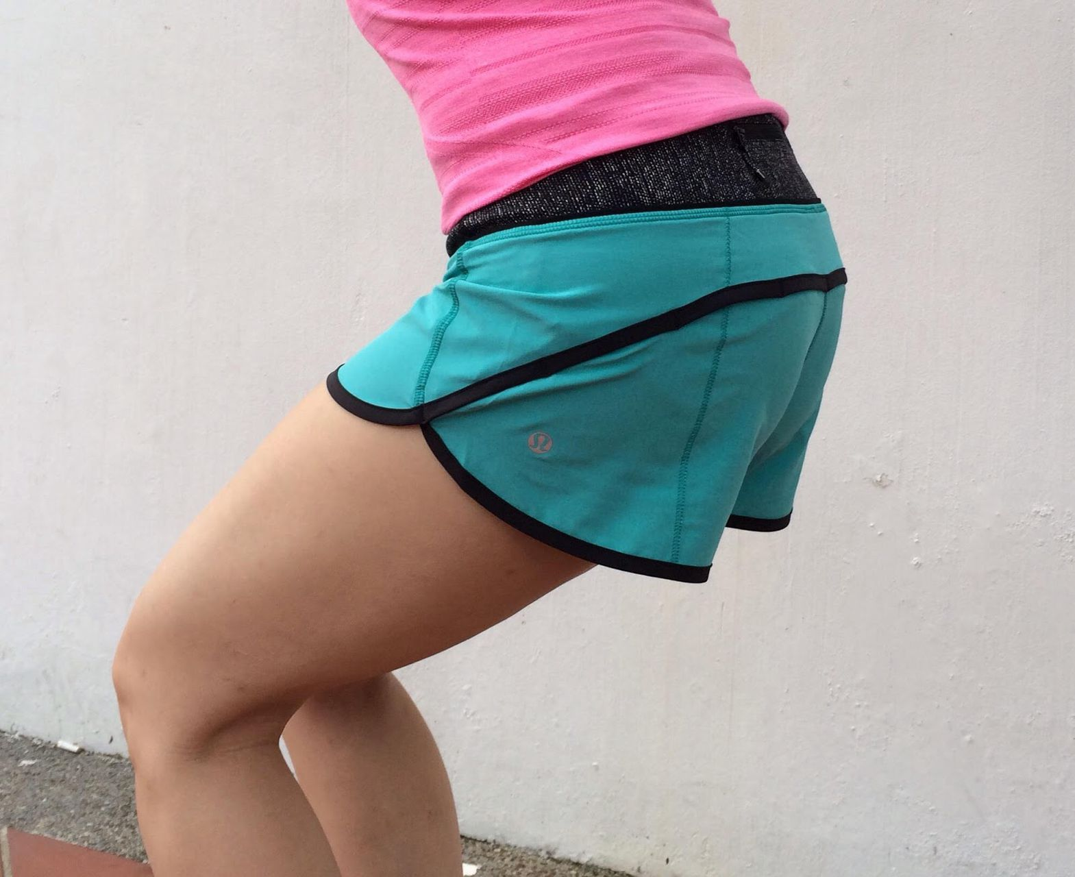 Lululemon Run:  Speed Short *4-way Stretch - Blue Tropics / Burlap Texture Black Dune / Black