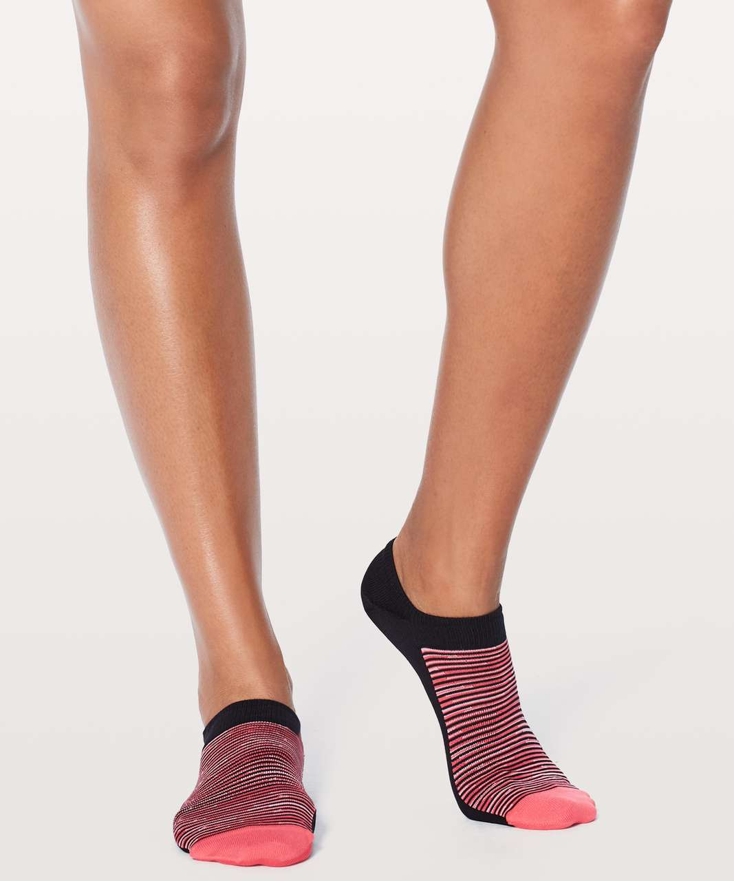 Lululemon Play All Day Sock - Coralize / Strawberry Shock / Black
