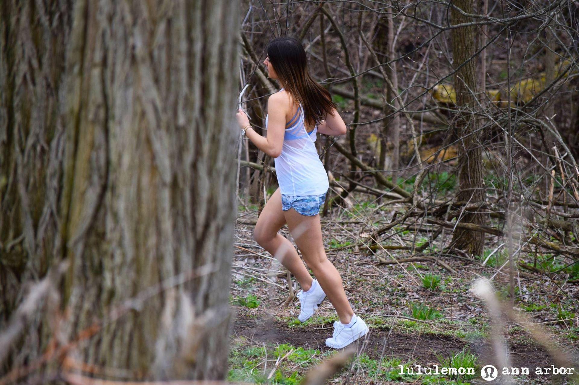 "Lululemon Speed Short *4-way Stretch 2.5"" - Blurry Belle Multi / Tink Stripe Black White"