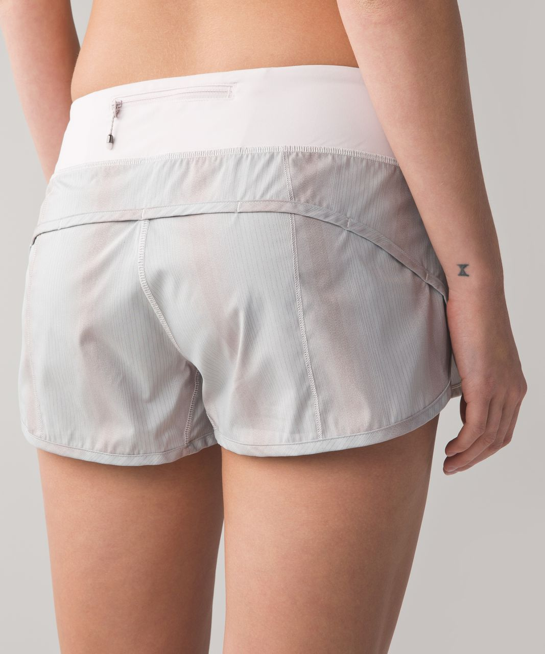 Lululemon Run Speed Short 2 Way Stretch Sparkle Swift Heathered Silver Spoon Neutral Blush Neutral Blush Lulu Fanatics
