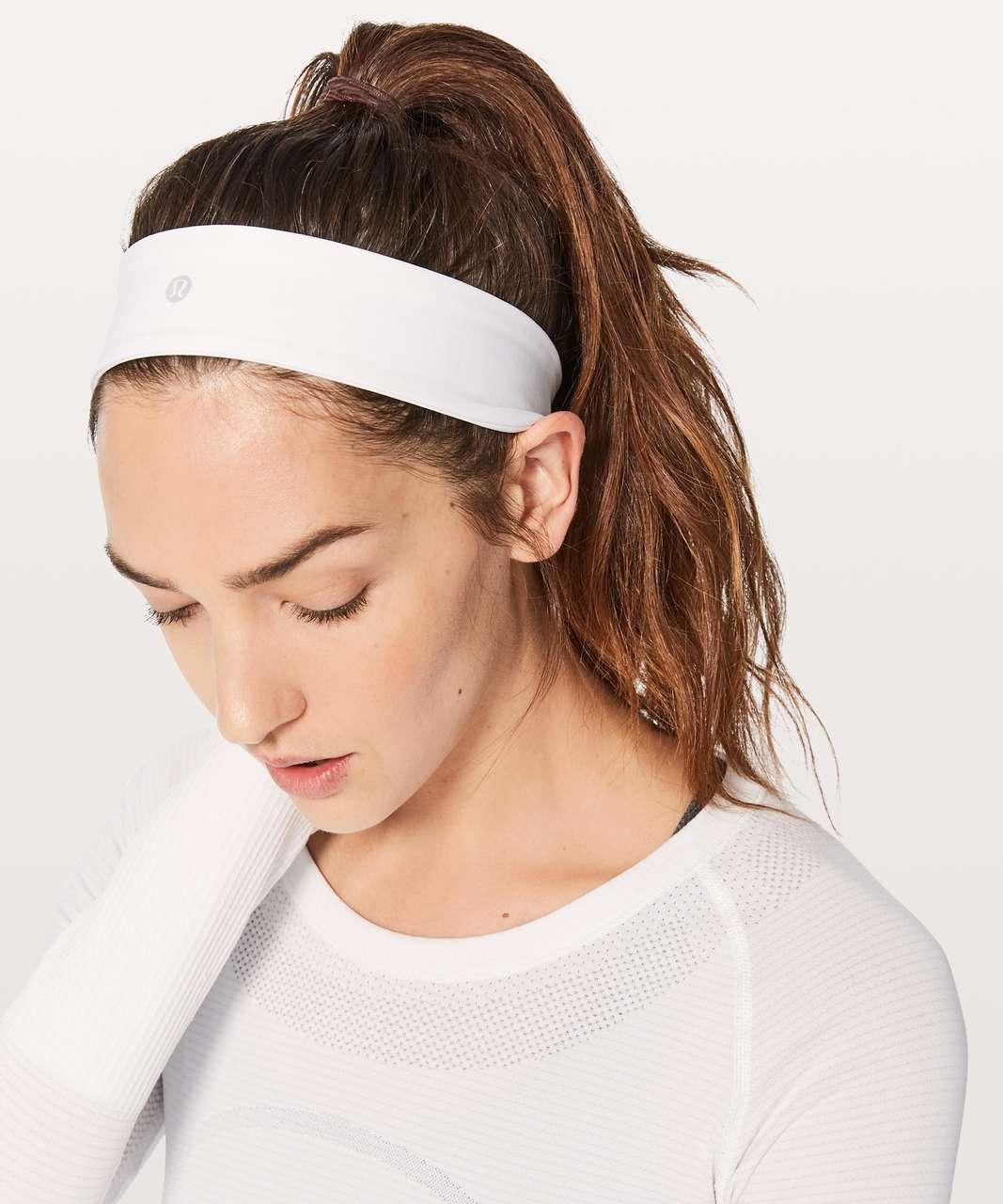 Lululemon Fly Away Tamer Headband II *Luxtreme - White