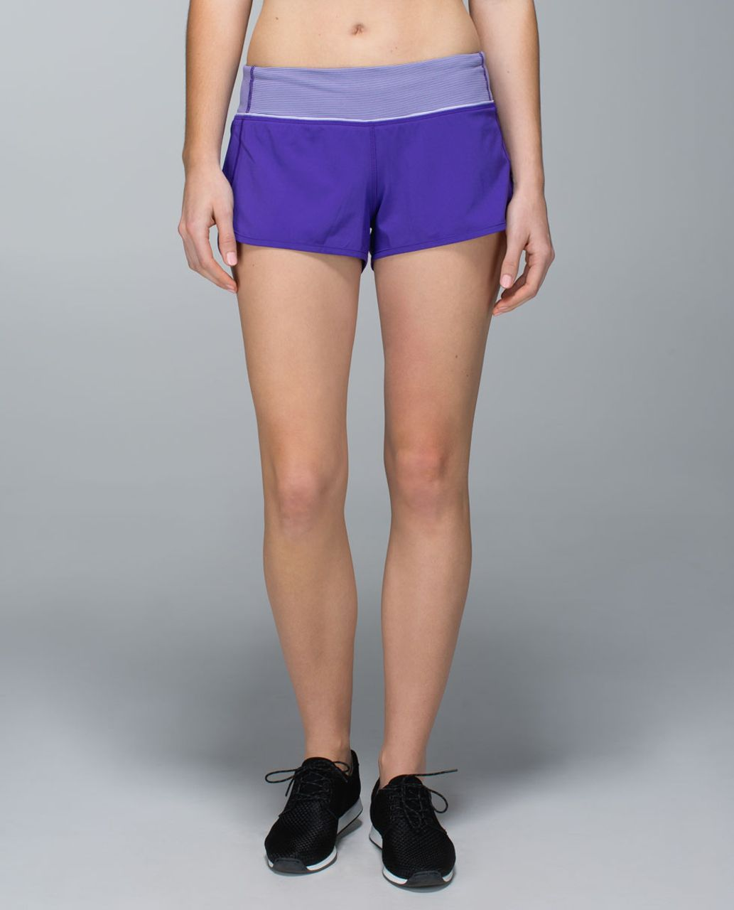 Lululemon Run:  Speed Short *4-way Stretch - Bruised Berry / Wee Stripe Bruised Berry