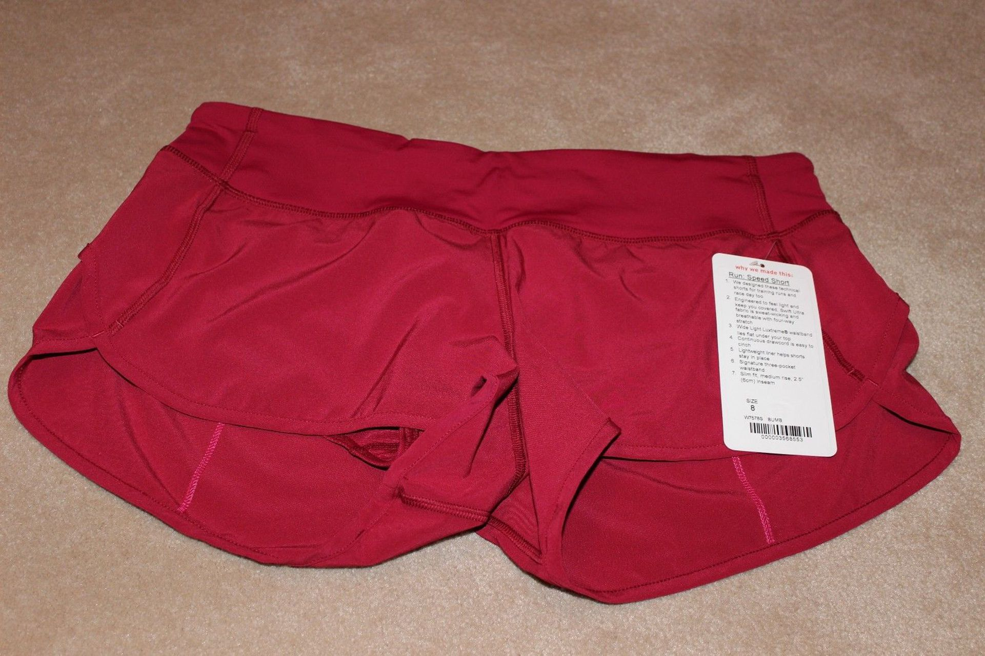 Lululemon Run:  Speed Short *4-way Stretch - Bumble Berry
