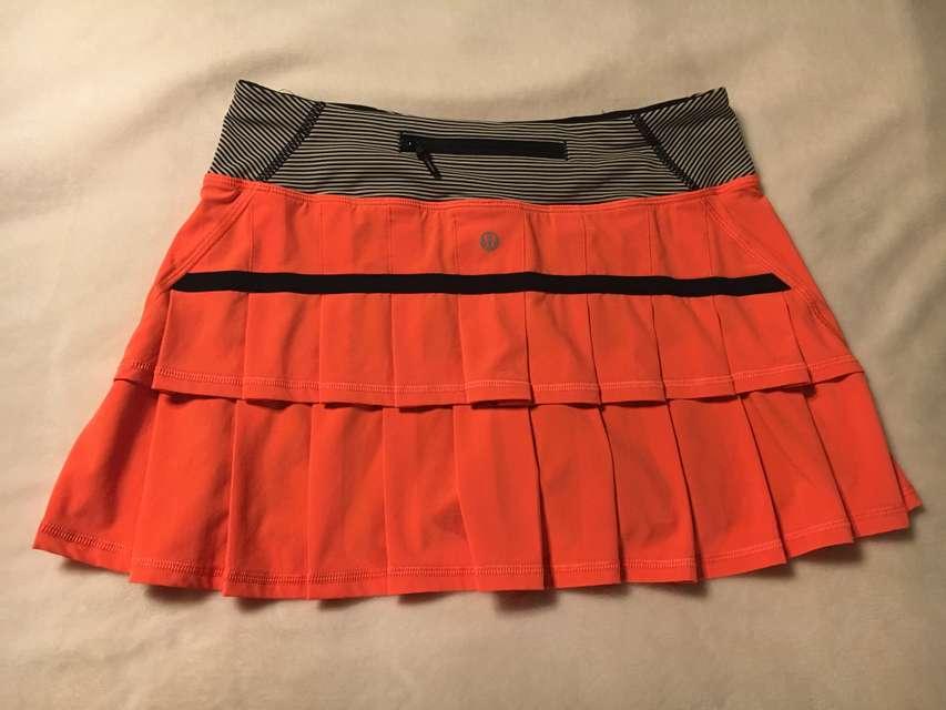 Run: Pace Setter Skirt - Light Flare / Tonka Stripe Cashew