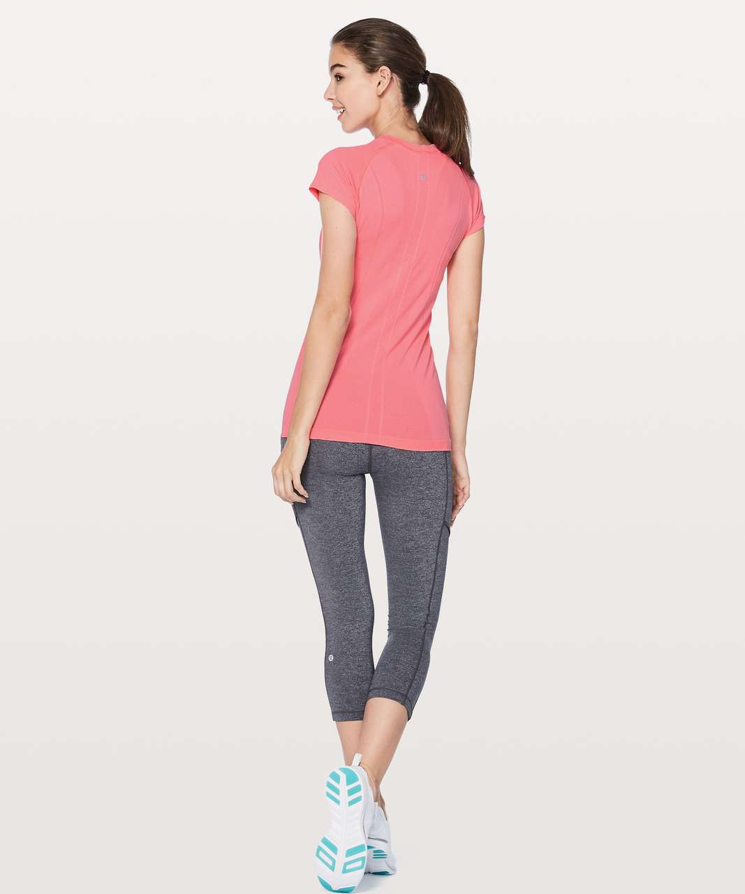 Lululemon Swiftly Tech Short Sleeve Crew - Flash Light / White