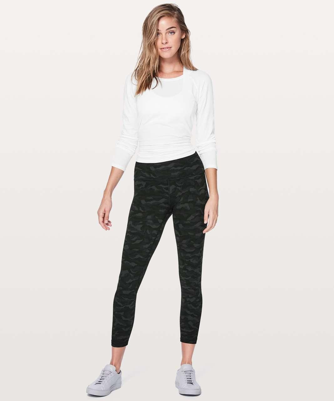 "Lululemon Align Pant II 25"" - Sequoia Camo Print Deep Coal Black"