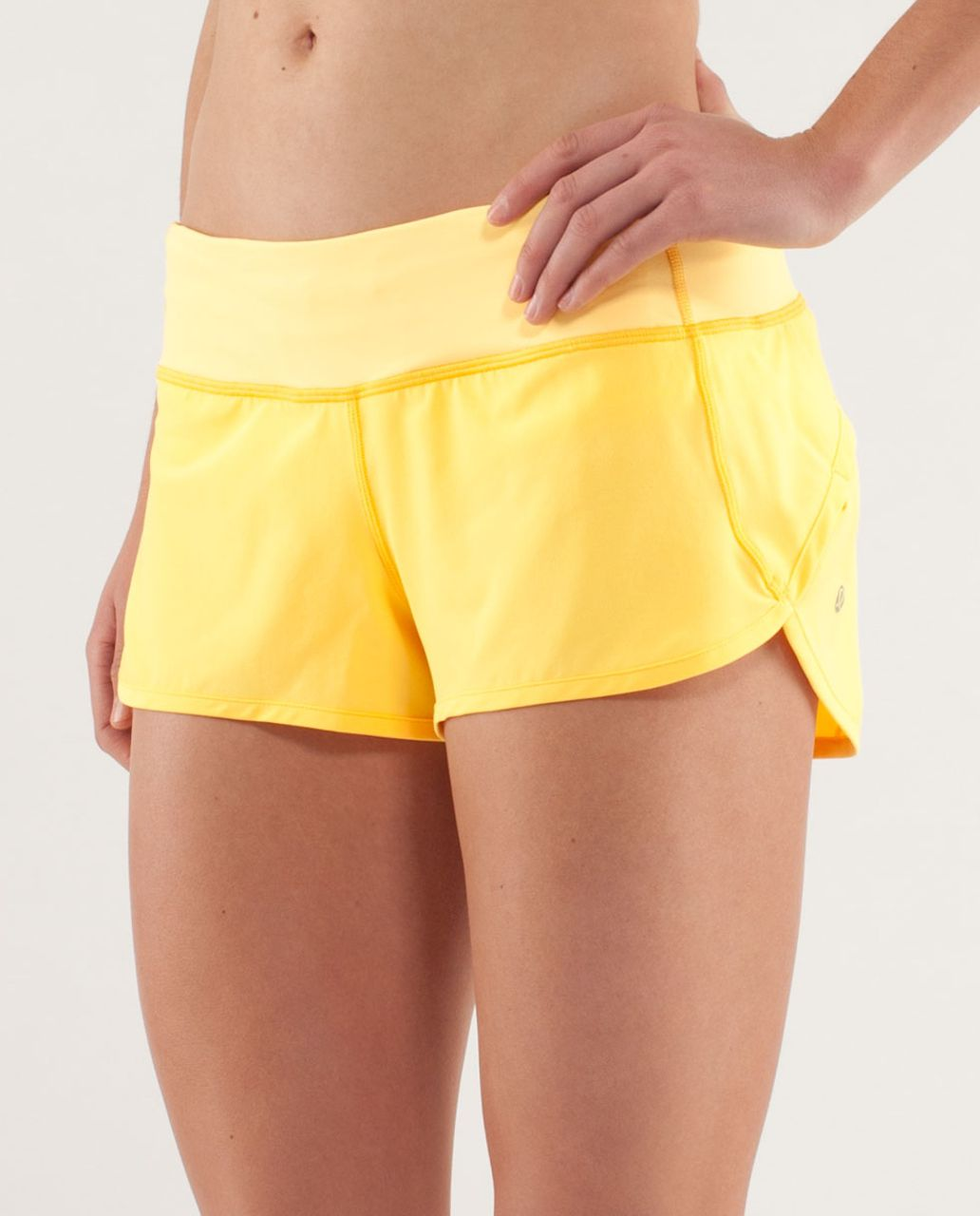Lululemon Run:  Speed Short - Burning Yellow