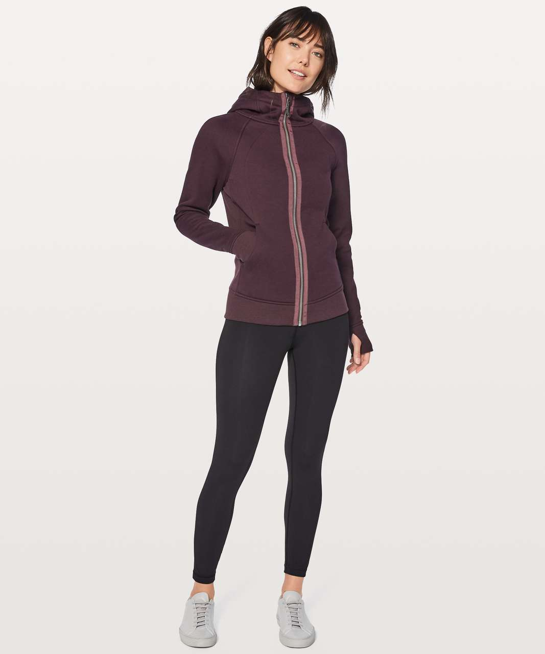 Lululemon Light As Warmth Scuba - Black Cherry
