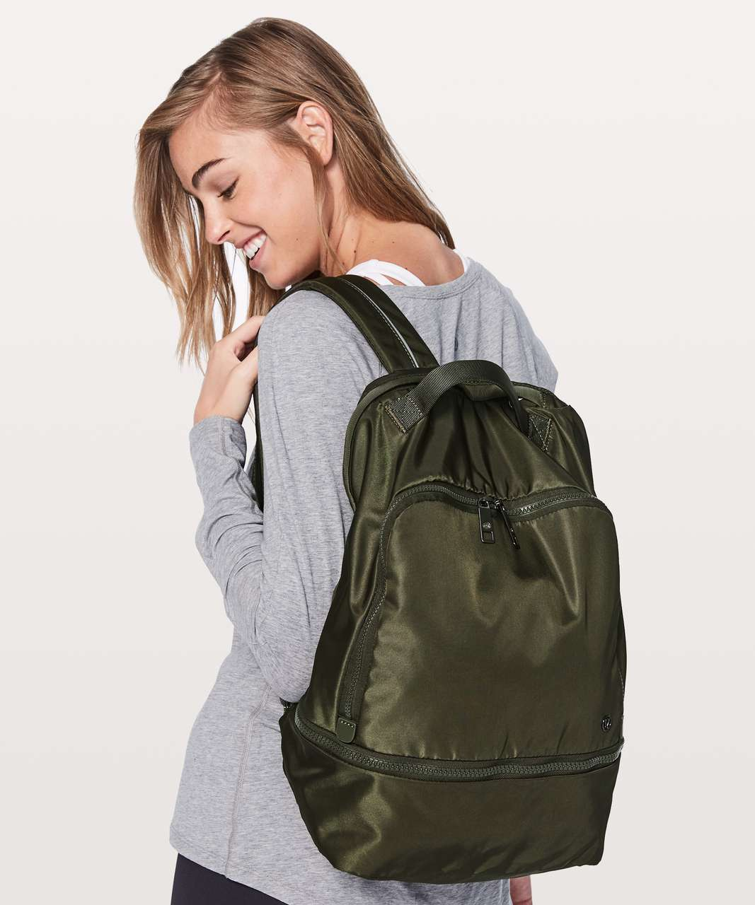 1dbb85b31b Lululemon City Adventurer Backpack  17L - Dark Olive - lulu fanatics