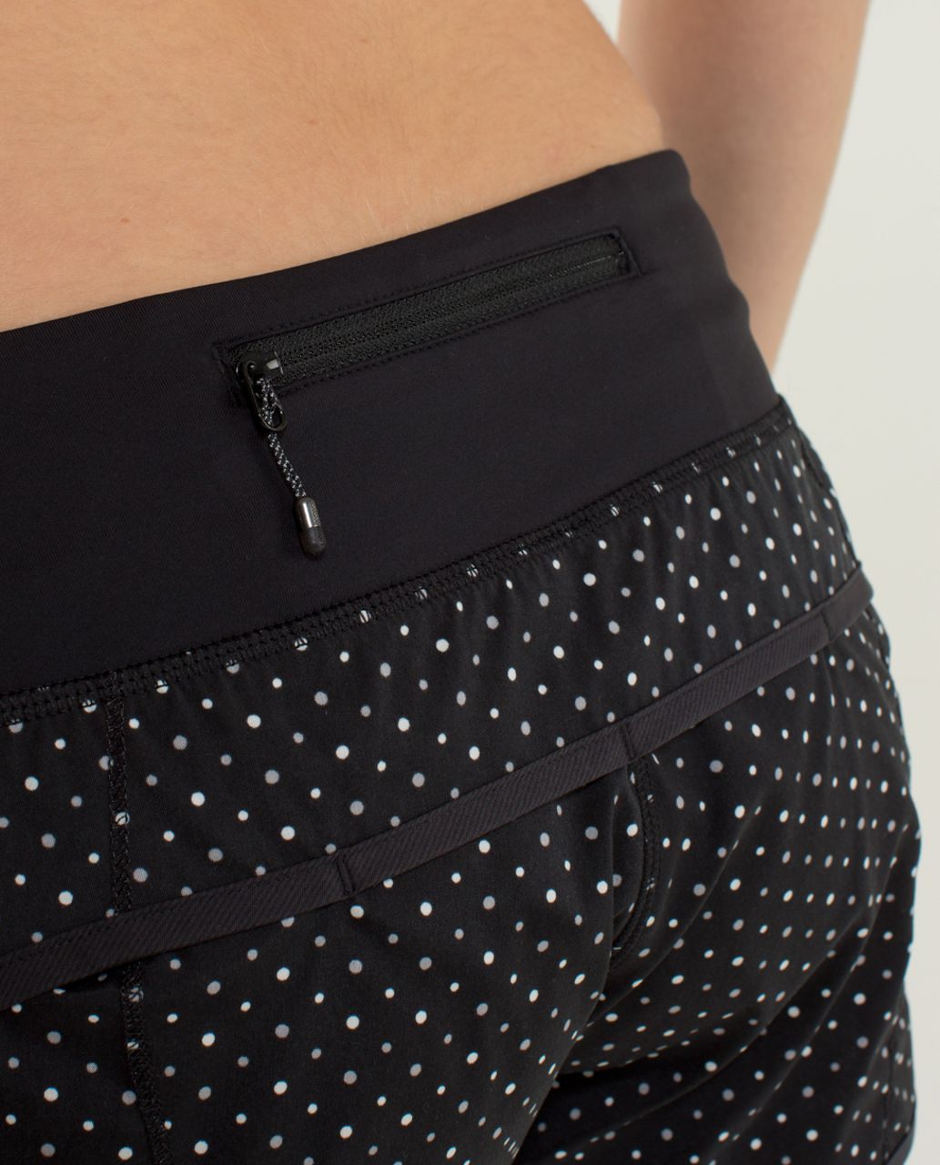 Lululemon Run:  Speed Short *2-way Stretch - Chevron Dot Black / Black