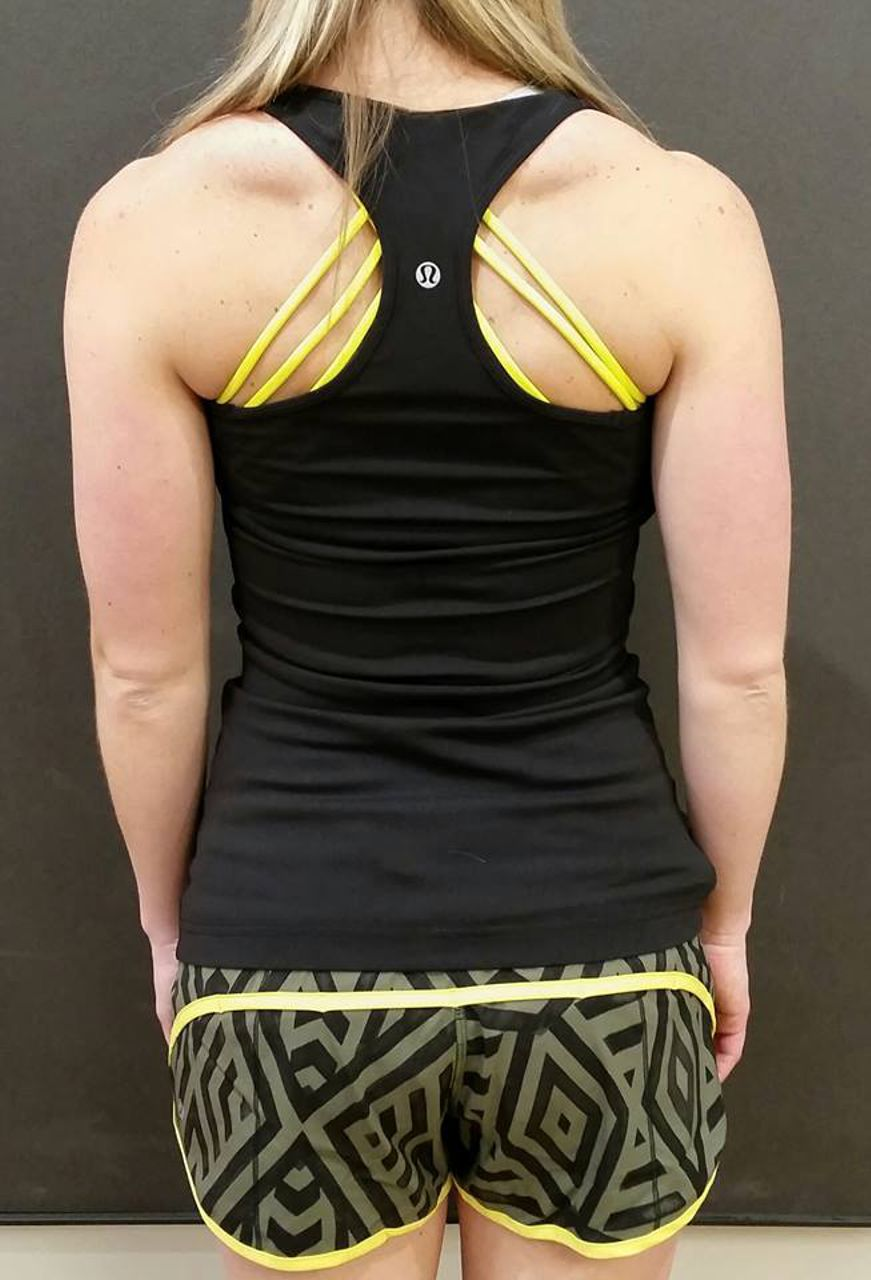 Lululemon Run:  Speed Short *4-way Stretch - Chevron Shuffle Fatigue Green Black / Split Pea / Black