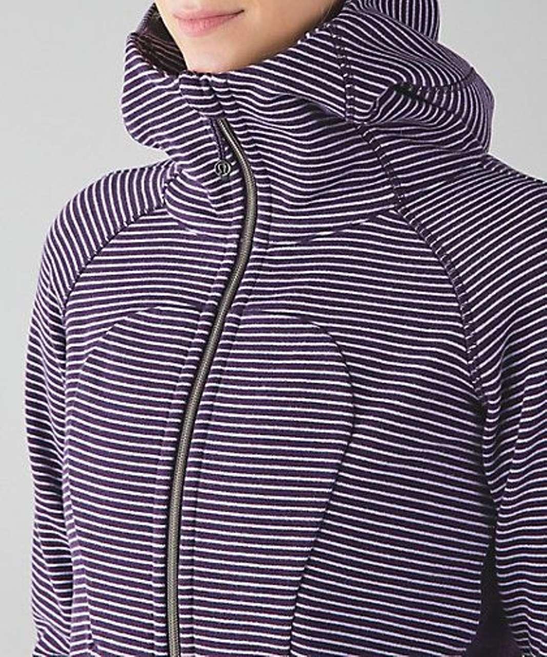 Lululemon Scuba Hoodie III - Hyper Stripe Deep Zinfandel Lilac / Lilac