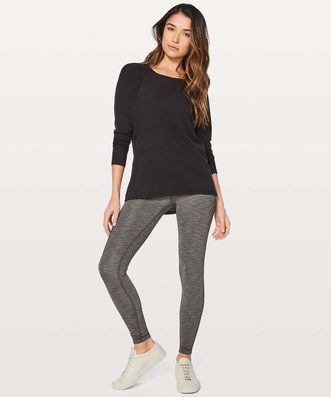 "Lululemon Wunder Under Hi-Rise Tight Full-On Luxtreme 28"" - Heathered Black"