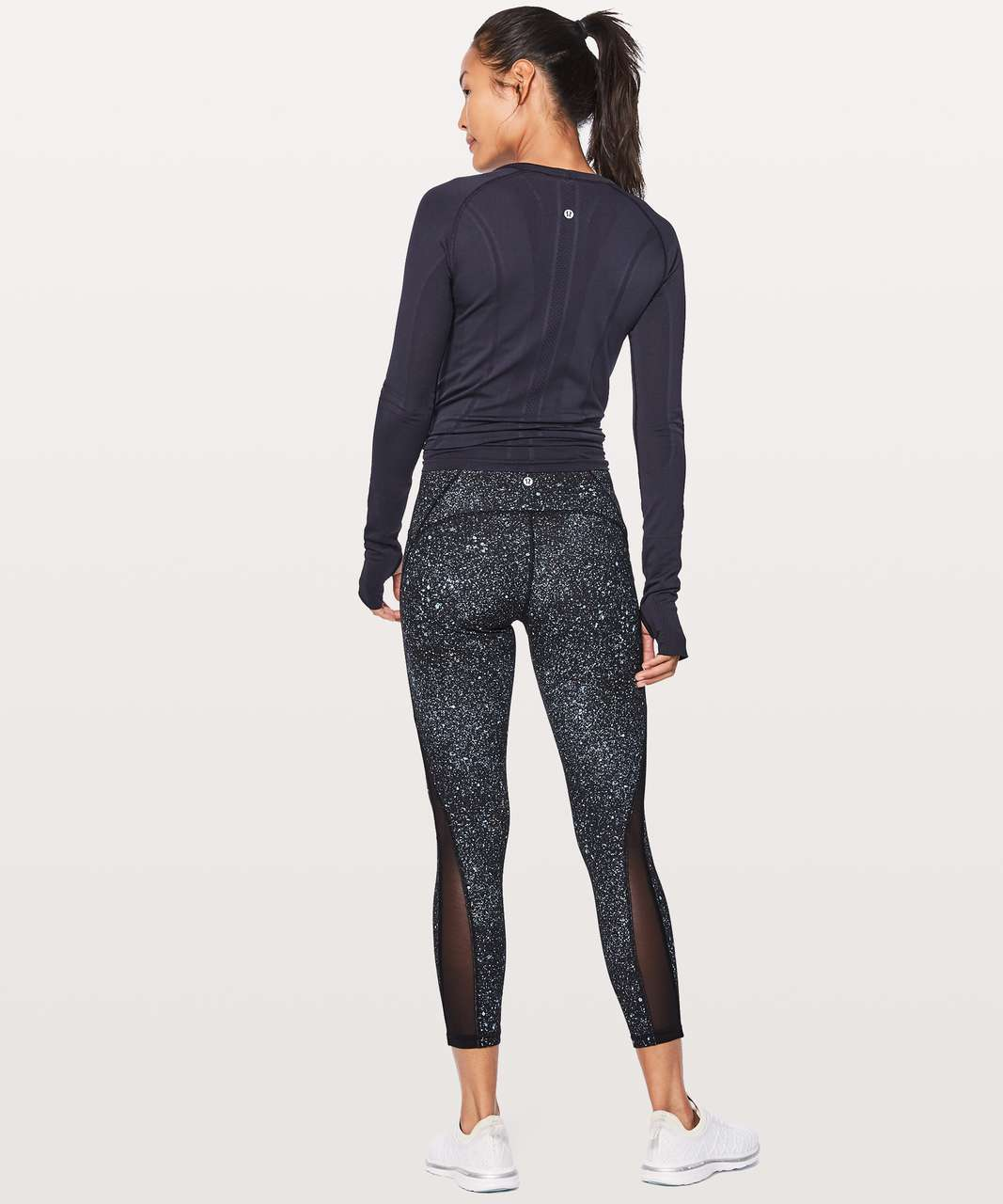"Lululemon Train Times 7/8 Pant 25"" - Mineralize Multi / Black"