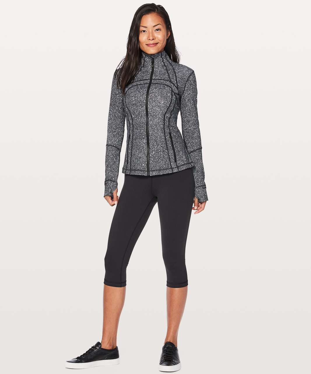 Lululemon Define Jacket - Luminesce Splatter White Black