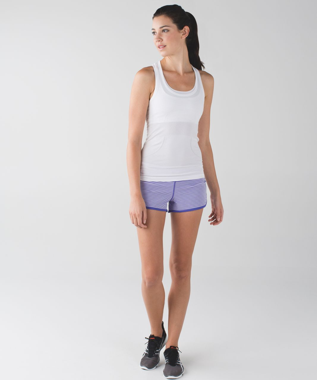Lululemon Run:  Speed Short *4-way Stretch - Classic Stripe Iris Flower Pretty Purple / Pretty Purple / Iris Flower