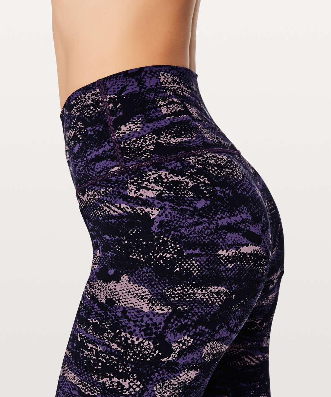 "Lululemon Wunder Under Hi-Rise 7/8 Tight Full-On Luxtreme 25"" - Rip Wave Purple Thunder Black"