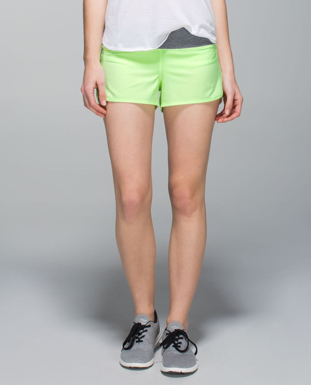 Lululemon Run:  Speed Short *4-way Stretch - Clear Mint / Heathered Slate
