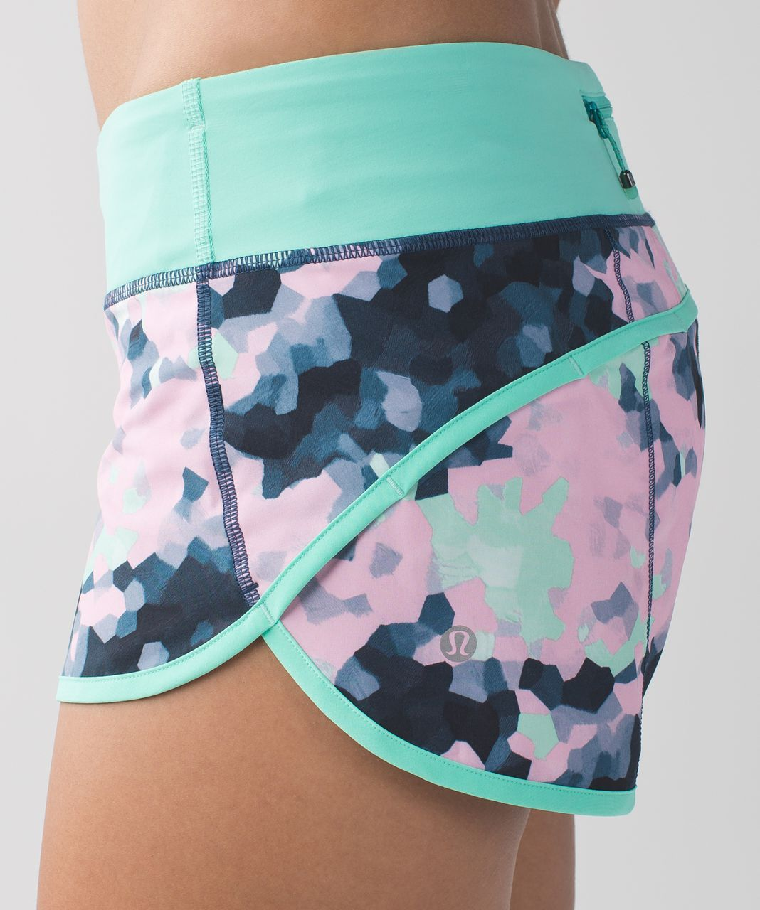 Lululemon Run:  Speed Short *4-way Stretch - Clouded Dreams Multi / Menthol