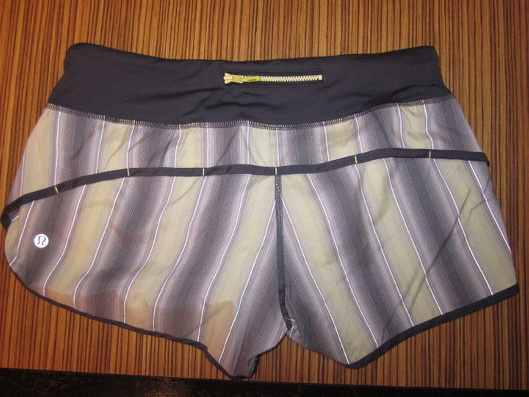 Lululemon Speed Short - Coal Citron Ombre (vertical stripes)