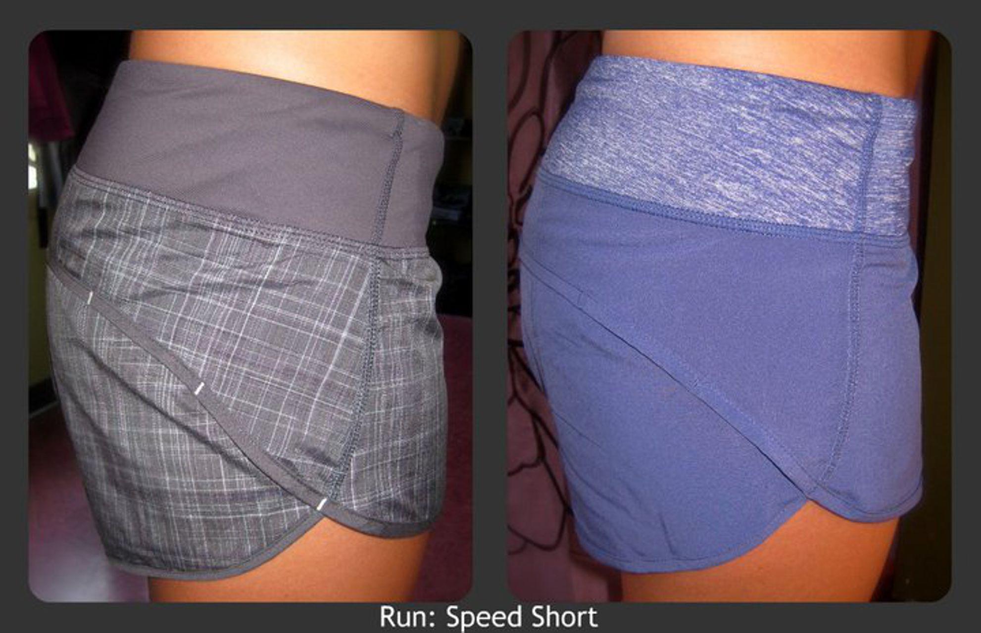Lululemon Run:  Speed Short - Coal Pig Pink Shale Stripe / Coal / Pig Pink