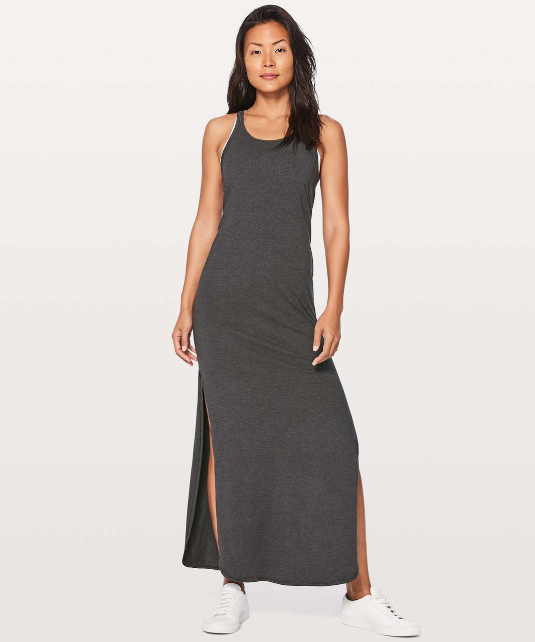 4fbb1207e7a Lululemon Refresh Maxi Dress II - Heathered Black - lulu fanatics