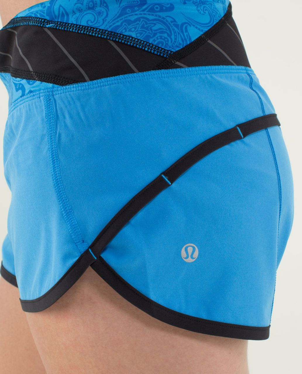 Lululemon Run:  Speed Short - Cornflower / Black / Quilt 25 Fall 2013