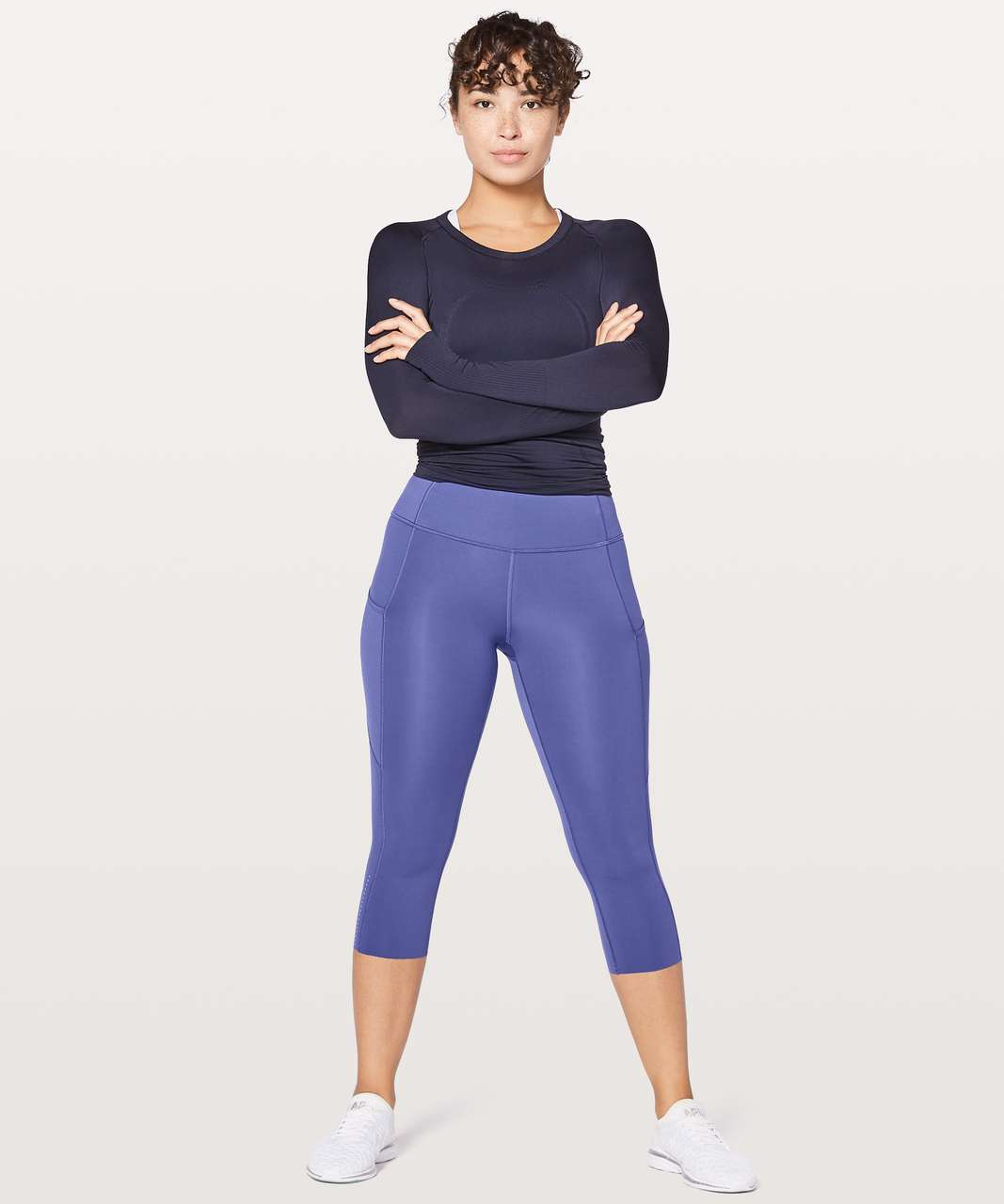 "Lululemon Fast & Free Crop II *Nulux 19"" - Stony Grape"
