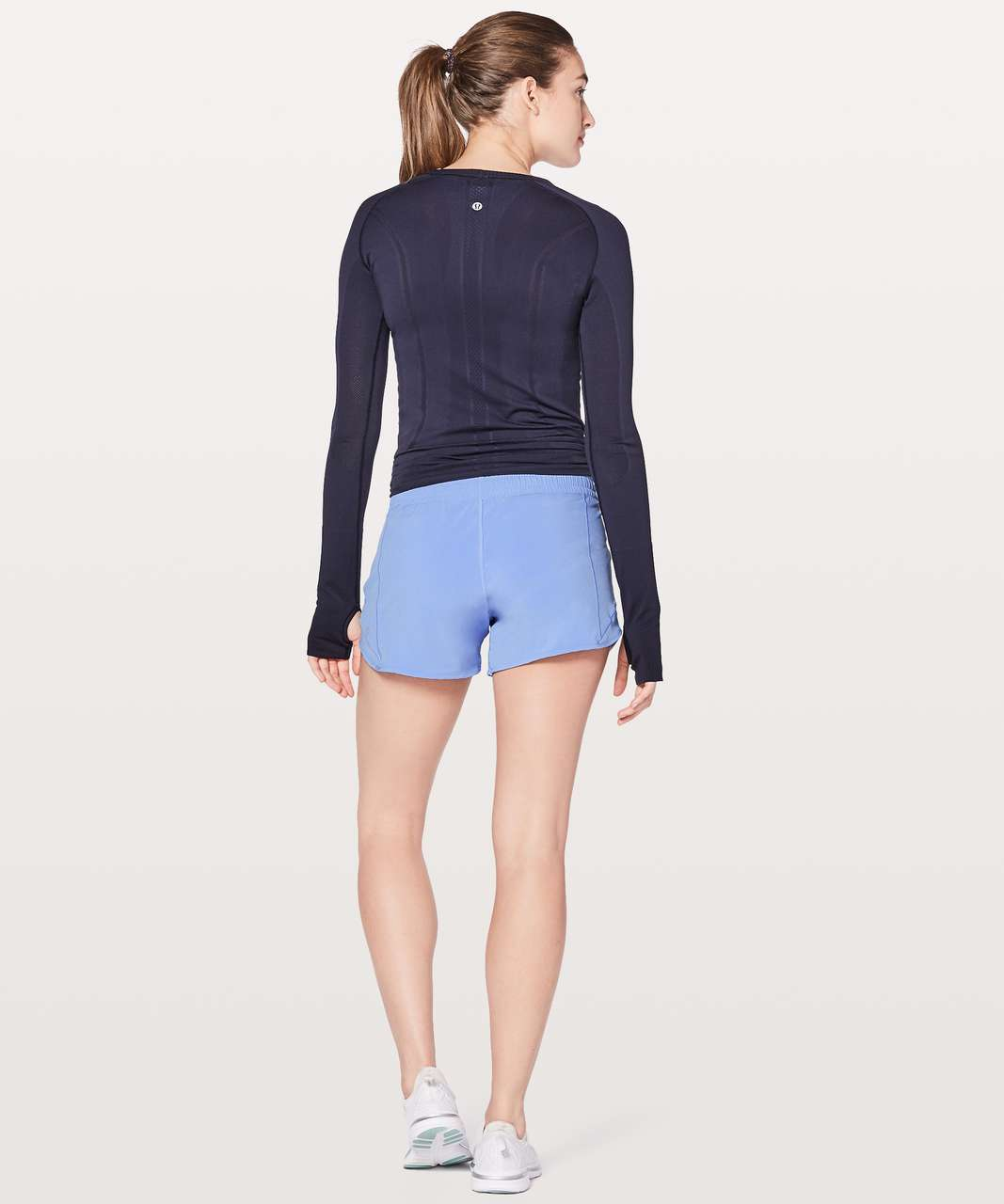 "Lululemon Hotty Hot Short II Long 4"" - Hydrangea Blue"