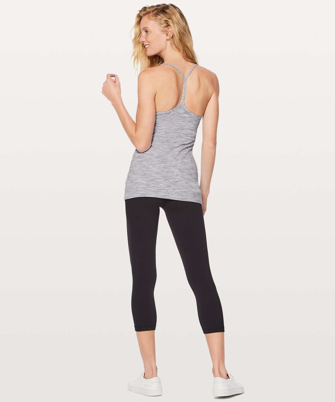 Lululemon Power Pose Tank - Wee Are From Space Ice Grey Alpine White