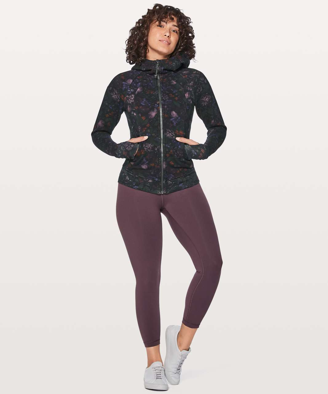 Lululemon Scuba Hoodie Light Cotton Fleece - Frozen Flourish Multi / Black
