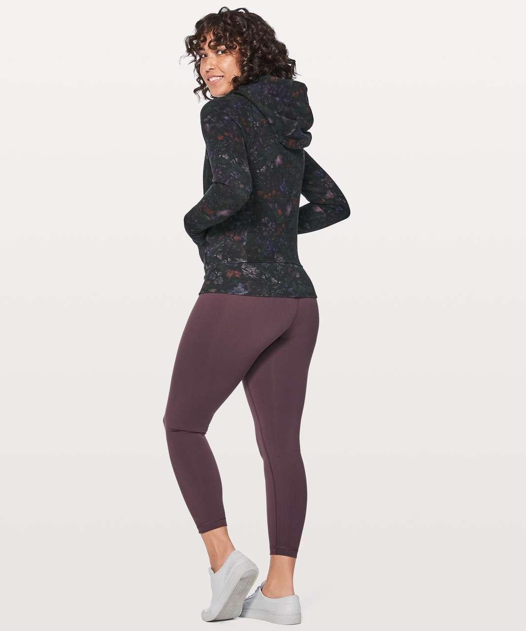 Lululemon Scuba Hoodie Light Cotton Fleece - Frozen Flourish Multi / Black