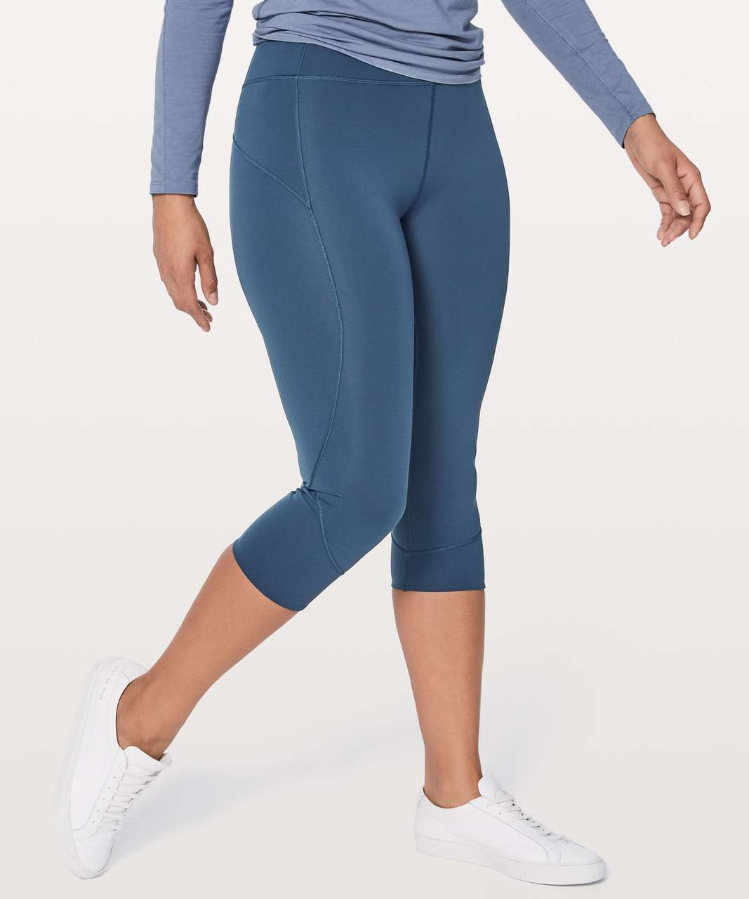 "Lululemon In Movement Crop 19"" - Mineral Blue"